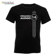 Fernando Alonso Number 14 Mens Ringer T Shirt Formula 1 Driver mens top tees men t-shirt car 3d pattern tee shirts