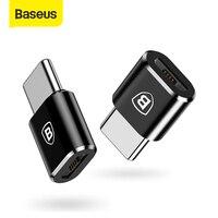 Baseus OTG Adapter USB Typ C Stecker auf Micro USB Buchse Konverter Schnelle Ladung Daten Transfer Adapter für Macbook Typ C Anschluss