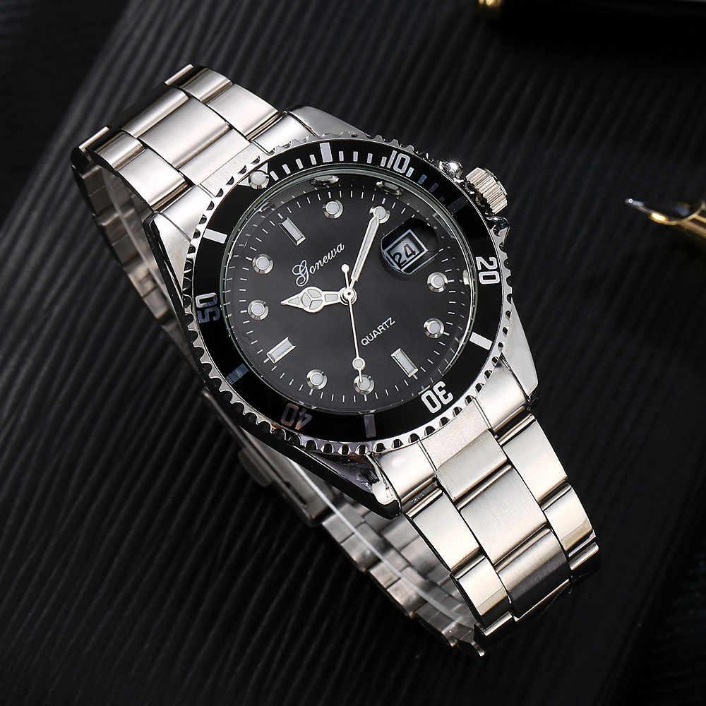 גברים של מעודן קוורץ שעון אופנה צבאי נירוסטה תאריך ספורט קוורץ מצביע אנלוגי שעון מתנה часы мужские 50 *