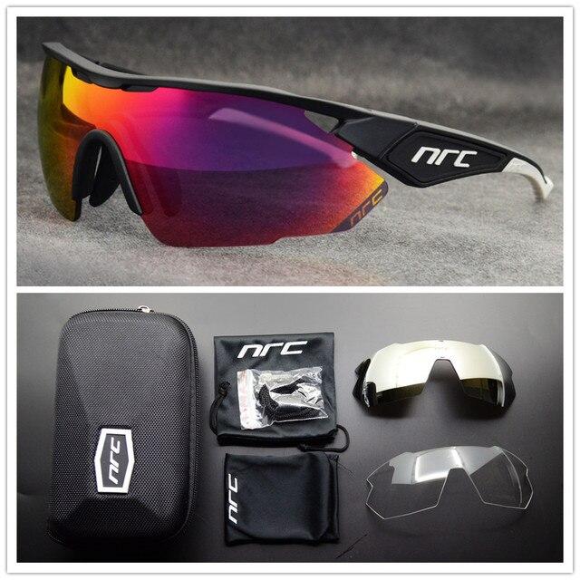 NRC de marca Esportes Ao Ar Livre Óculos de Ciclismo Mountain Bike Ciclismo Goggles UV400 Fotocromáticas Homens Ciclismo Óculos De Sol Eyewear Unisex 5