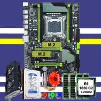 Chegada nova huanan x79 placa mãe cpu xeon e5 1650 c2 com 6 heatpipes cooler ram 32g (4*8g) 1 tb sata hdd gtx750ti 2g placa de vídeo|Placas-mães| |  -