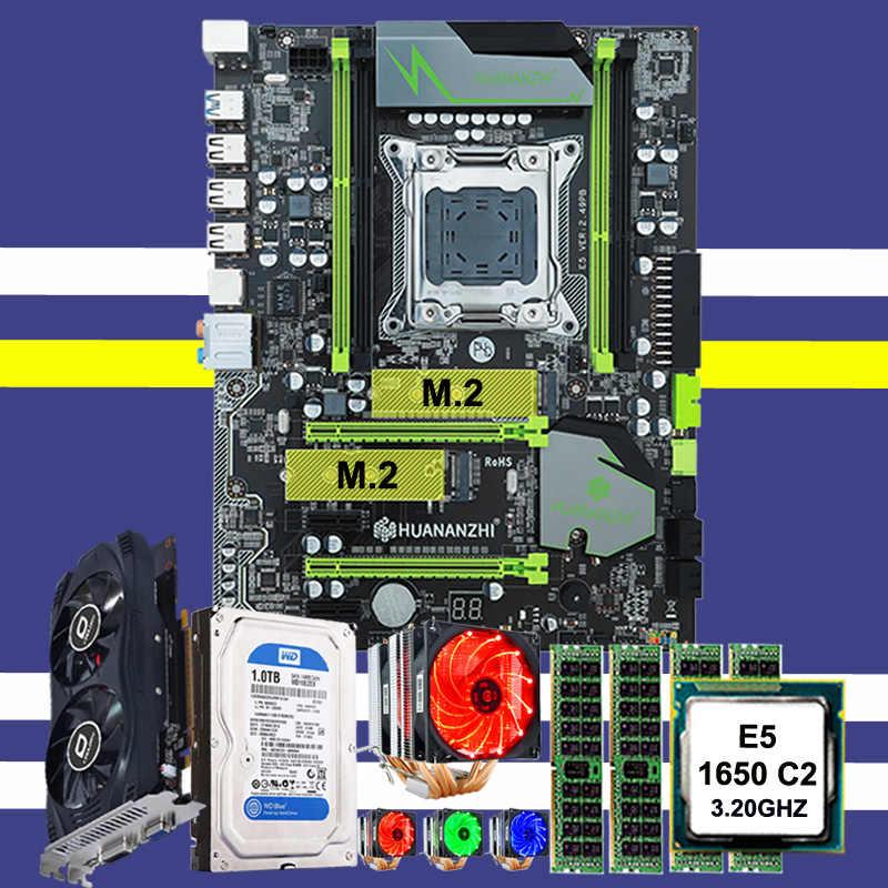 وصل حديثا لوحة HUANAN X79 وحدة المعالجة المركزية Xeon E5 1650 C2 مع 6 أنابيب الحرارة برودة ذاكرة الوصول العشوائي 32G (4*8G) 1 تيرا بايت SATA HDD GTX750Ti 2G بطاقة الفيديو