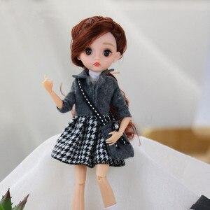 ¡Novedad! Muñeca BJD de 28cm con ojos en 3D, vestido de moda multiarticulado extraíble, ropa + mochila, muñeca 1/6, juguete para niña, regalo de cumpleaños