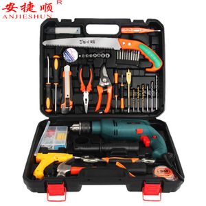 Anjieshun 950W Electric Drill Impact Drill Multi-function Electric Drill Set Household Adjustable Speed Woodworking Power Tool