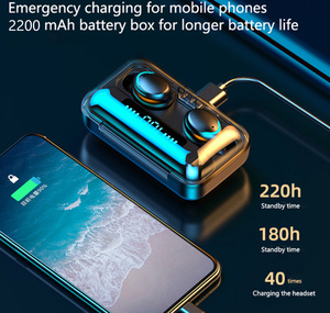 Image 3 - Bluetooth 5.0 Earphones Wireless Headphone 9D Stereo 2200mAh Charging Box Sports Waterproof Earbuds Headsets With Microphone