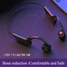 Bone Conduction Bluetooth Headphones Wireless Sports Earphones Mic Bluetooth 5.0 Earphone Outdoor Sport Headset with Mic mix8 open ear bone conduction bluetooth v4 1 headset outdoor sports wireless bluetooth headset head mounted headphones