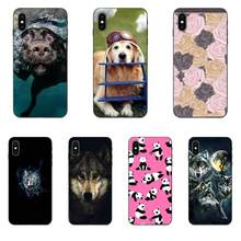 On Sale Luxury For Huawei Honor 5A 6A 6C 7A 7C 7X 8A 8C 8X 9 10 P8 P9 P10 P20 P30 Mini Lite Plus Animal Wolf Dog Panda Flower(China)