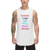 Camiseta sin mangas de Fitness para hombre, diseño personalizado, con logotipo y foto, para verano, camiseta de culturismo sin mangas con tirantes, ropa de gimnasio