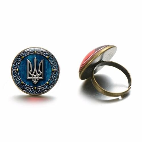 Ukraine Ukranian Flag Antique Bronze Cufflinks