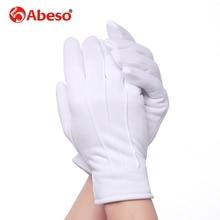 Abeso 10 Paar Plus Kasjmier dikke elastische Grote witte handschoenen Witte kleur Etiquette handschoenen rijden handschoenen A1008