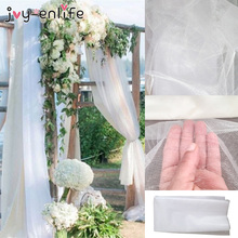 48cm x 10m Mariage Yarn Tulle Roll Sheer Crystal Organza Fabric Birthday Event Party Supplies for Wedding Decoration