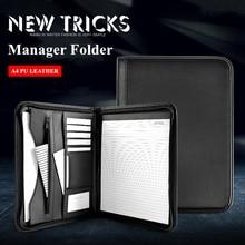 A4 Padfolio File Cabinet Folder Luxury Fichario Document Organizer Holder Manager Doctor Briefcase Zipper Business Supplies