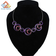 Round necklace rope alloy fittings drip fashion womens 2015 vintage jewelry new free shipping