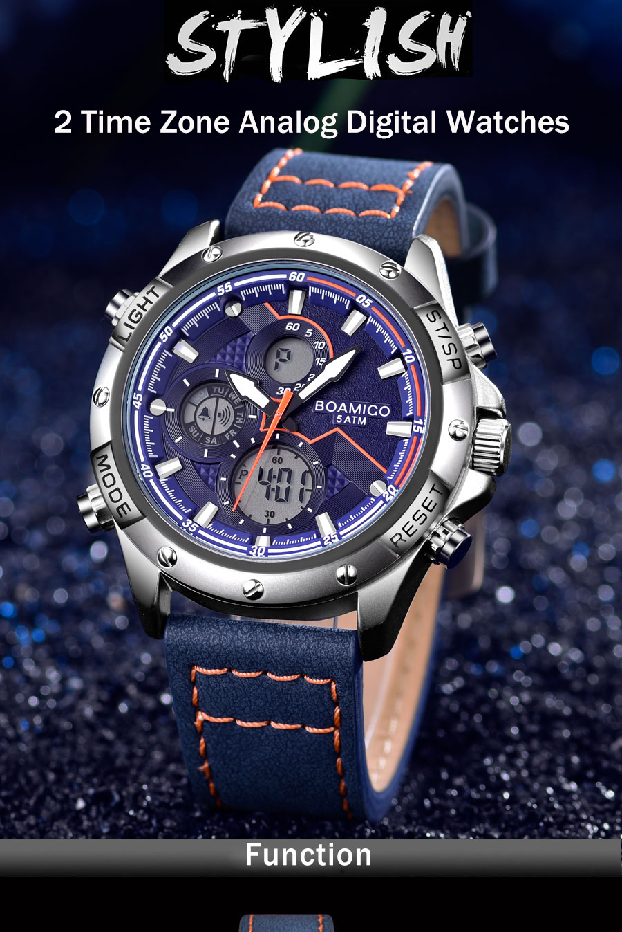 He768c4e6318a448fac3bb82616e6bbdc7 BOAMIGO Fashion Mens Watches men Military Digital analog Quartz Chronograph sport Watch  Waterproof wristwatch relogio masculino