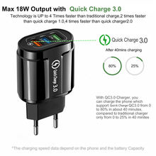 USB Fast Charger Quick Charge 3.0 Universal Wall Mobile Phone Tablet Chargers For iPhone 11 Samsung Huawei Charging Charger
