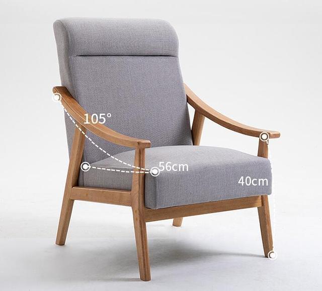 Solid Wood Sofa Armchair  2