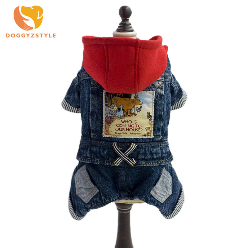 Pet-Dog-Jeans-Jumpsuit-Hooded-Coat-Pet-Autumn-Winter-Warm-Outfit-Printed-Perro-Overalls-For-Small