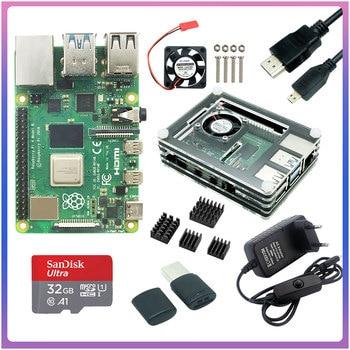 Raspberry Pi 4 modèle B 2GB/4GB/8GB RAM + Rapberry Pi 4B boîtier alimentation dissipateur thermique en aluminium