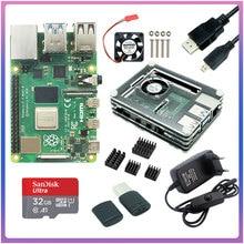 Raspberry Pi 4 Модель B 2,4G & 5G Wi-Fi Bluetooth 5,0 2 ГБ/4 ГБ/8 ГБ Оперативная память + Rapberry Pi 4B чехол Мощность поставить Алюминий теплоотвод