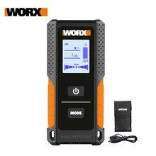Worx stud finder wx085 multifuncional detector de parede metal madeira & cabo ac 3in1 display digital carregador usb recarregável