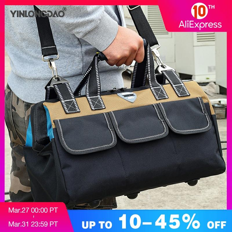 YINLONGDAO Large Capacity Tool Bag, Multi-function Electrician Bag, Anti-fall And Wear-resistant Woodworking Bag