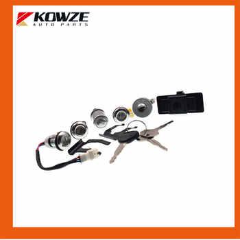 Lock Cylinder & Key Set For PAJERO MONTERO II 2nd 1990-2004 4G54 4G64 4M40 6G72 MR259744 MR259766