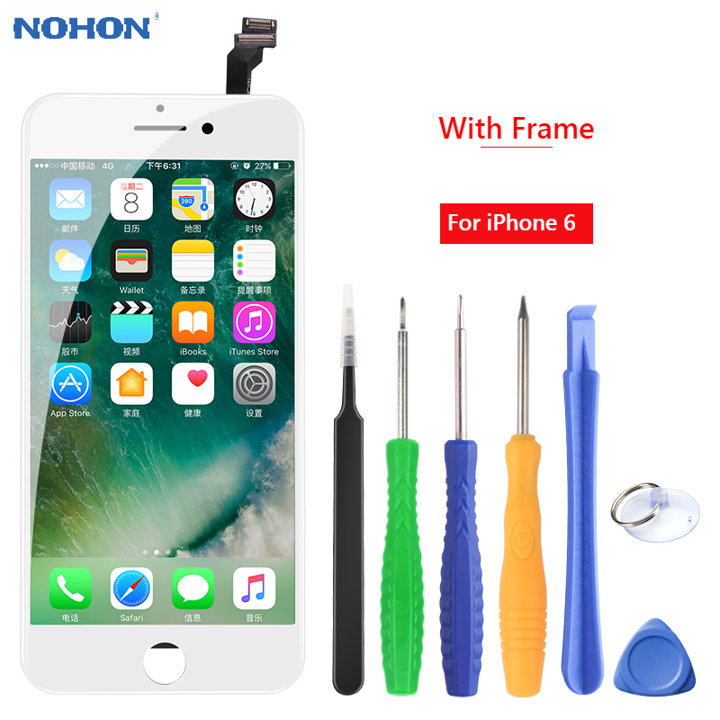 NOHON <font><b>Original</b></font> <font><b>Display</b></font> LCD Screen Für <font><b>iPhone</b></font> 6 <font><b>6S</b></font> LCD Replacment Für <font><b>iPhone</b></font> 7 8 <font><b>Display</b></font> Montage Digitizer 3D touch AAAA + Rahmen image