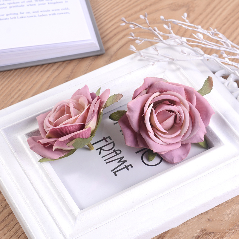 JAROWN Artificial Silk Roses Flowers Scrapbook Wedding Home Decor DIY Gifts Box Christmas Garlands Household Products Fake Flowers (15)
