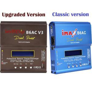 Image 1 - Prise ue/US iMAX B6AC 80W Balance chargeur Lion LiPo vie Pb NiCd et NiMH batterie déchargeur adaptateur secteur pour hélicoptère RC