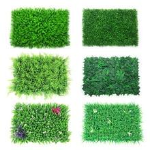 Diy artificial planta parede gramado 40x60cm plástico casa jardim loja centro comercial decoração para casa tapete verde grama selva festa
