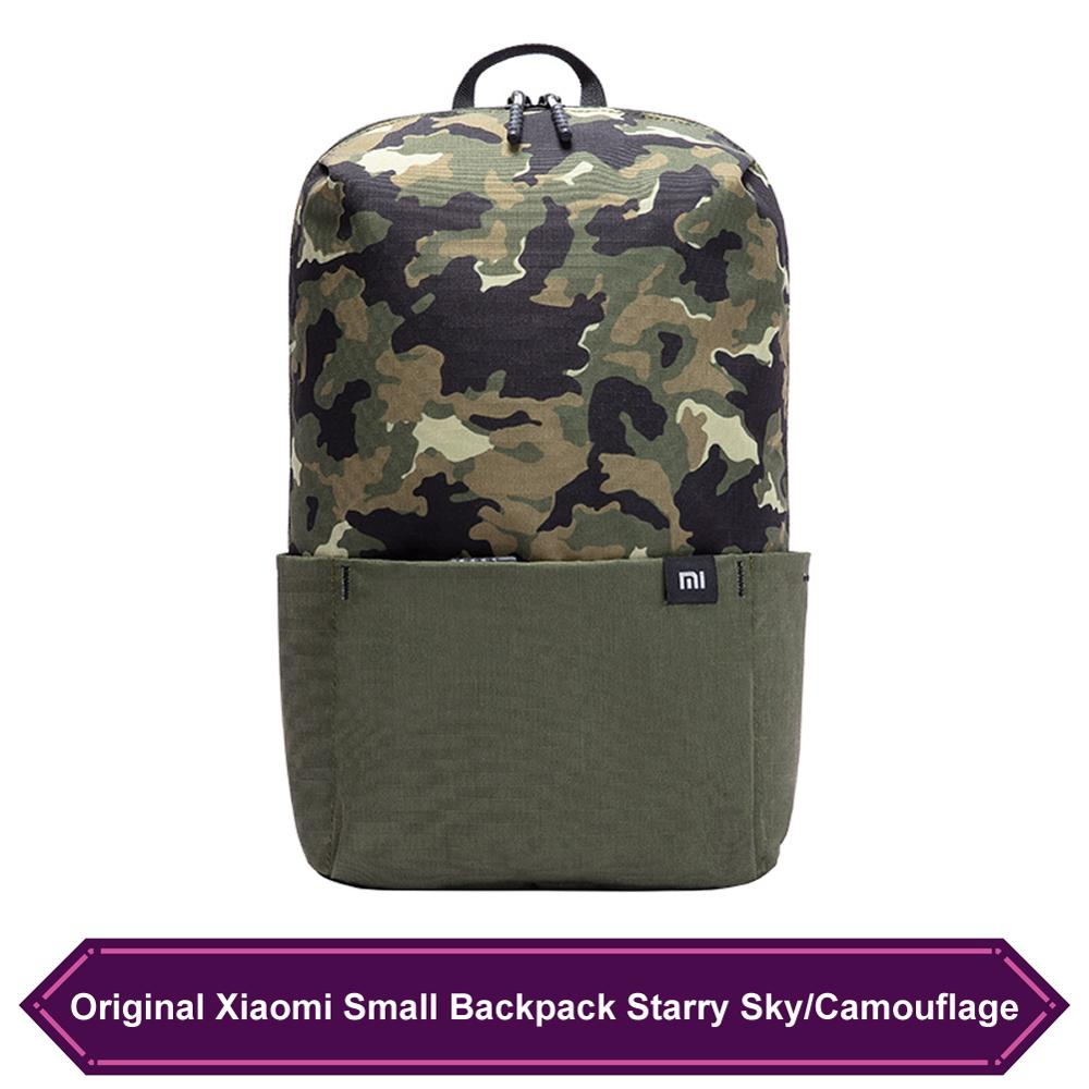 Original Xiaomi Small Backpack Starry Sky/Camouflage Style Men Women Sports Bag Wear Waterproof Daily Casual Backpack Schoolbag