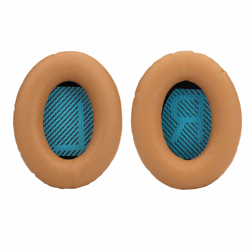 1Pair Sostituibile Ear Pad Cuscino per Bose Quietcomfort QC35 Auricolari in Morbida Pelle Cuffie Cuffie # LR1