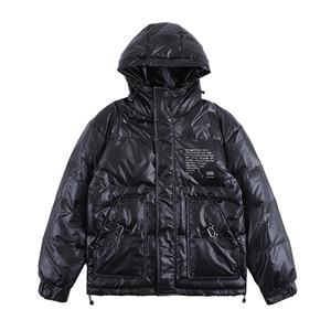 Image 3 - Nagri 2020 Nieuwe Mode Winter Reflecterende Mode Heren Jas Dikke Warme Streetwear Casual Hooded Jassen Jas 19Y131