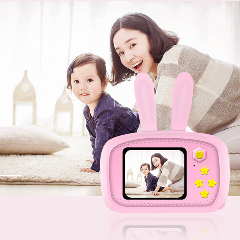 Digital Camera For Kids With 16GB SD Card,Shockproof  Front And Rear Selfie Camera 12.0M With 2.0 Inch IPS Screen Children Toys