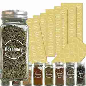 144pcs/132pcs Kitchen Jars Bottle Container Label Various Food Label Clear Stickers On Can Storage Box Item Mark 6 Sheets
