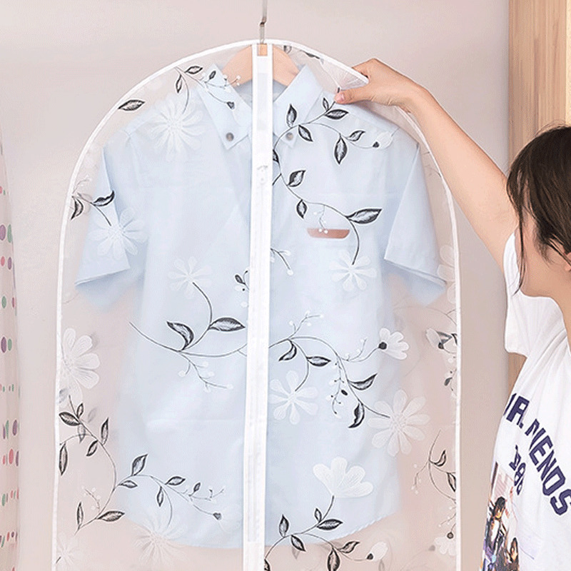690/110/130cm Modern Plastic Clear Dust-proof Cloth Cover Suit Dress Garment Bag Storage Protector Clothing Cover