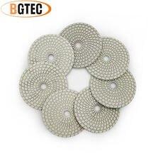 Bgtec 4 дюйма 7 шт Профессиональные влажные Алмазные Гибкие