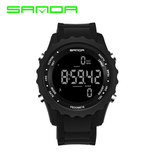SANDA Precision Step Fashion Sport Watch men LED Army Military men watches Dive Swim Outdoor Wristwatches relogio masculino все цены