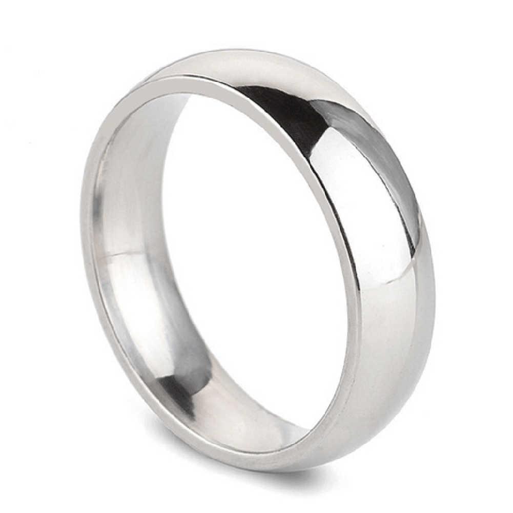 2019 Hot Real redondo Simples Casal Anéis de Casamento de Moda da Cor do Ouro de Cobre para As Mulheres saudável Qualidade Superior