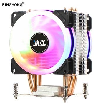 Cpu Cooling Fan X79 2011 RGB 4Pin PWM 90mm Cpu Cooler 4 Heat Pipe Computer Heatsink For X99 X299 New 2011-V3 Low Price Radiator aluminum computer radiator water cooling cooler 2 fans 240mm for cpu heatsink