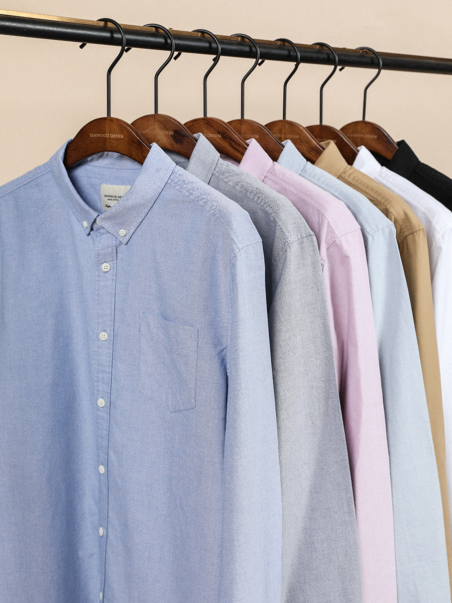 He76a3ab291d3425ea0209074ccbeed25C - SIMWOOD 21s/2 oxford shirts men classical casual shirt single chest pockets 100% cotton spring new brand clothing SJ110377