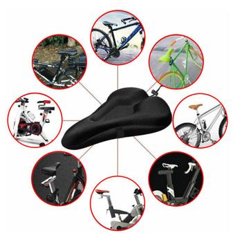 Siodło rowerowe 3D amortyzowany pokrowiec na siodełko rowerowe miękka wyściólka żel rowerowy cykl siodło rozrywka poduszka części rowerowe tanie i dobre opinie Aubtec CN (pochodzenie) Inne Silicone Rowery górskie Bicycle saddle seat Cover Hand-Wash with Mild Detergent Front Seat Mat