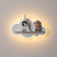 Nuvem criativa moderna conduziu a lâmpada de parede interior casa deco luz parede para o quarto das crianças cabeceira quarto do bebê arandela AC85 265V|Luminárias de parede| |  -