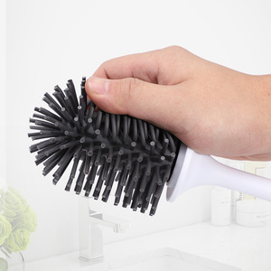 Image 4 - iFun Toilet Brush & Head Holder Cleaning Brush For Toilet Wall Hanging Household Floor Cleaning Bathroom Cleaning Tool
