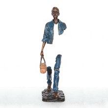 Путешественник Человек Статуя Знаменитый Скульптура Горячий Литой Бронзовый Полный Цвет Современный Классический Арт Делюкс Кабинет Вилла Дом Украшение Большой