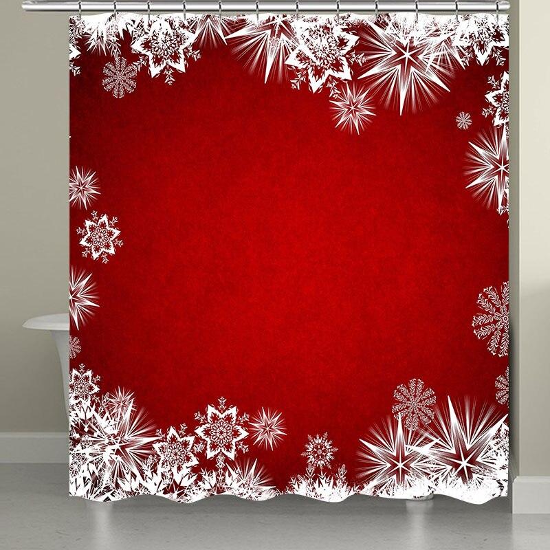 10 видов Рождественская задняя капля Снежный принт Водонепроницаемая занавеска для ванной комнаты занавеска для ванной унитаза коврик набор нескользящих ковриков - Цвет: RS004 Bath Curtain
