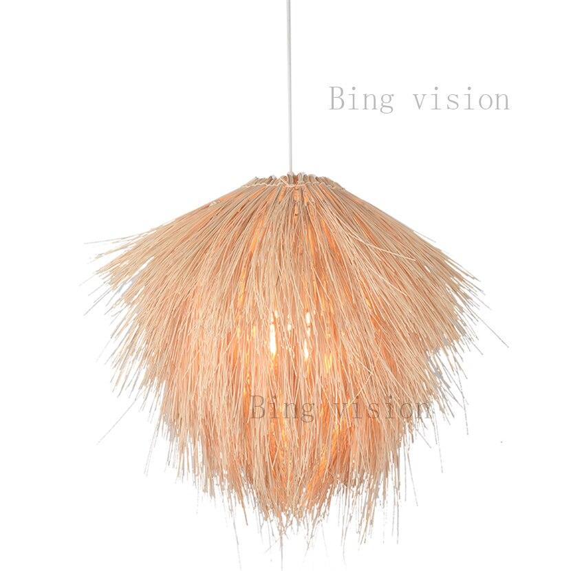 Styl japoński szyszka typu lampy wiszące lampy wiszące lampa rattanowa oprawa oświetleniowa oprawa wisząca nowoczesna dekoracja wnętrz