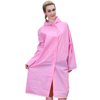 2019 New Women EVA Transparent Raincoat Poncho Portable Light Raincoat NOT Disposable Rain Coat For Adult