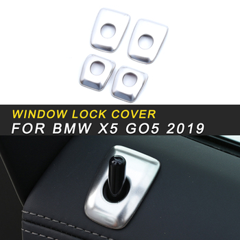 Stainless Steel Window Lock Panel Cover Trim Frame Sticker Interior Accessories for BMW X5 G05 2019 Car Styling