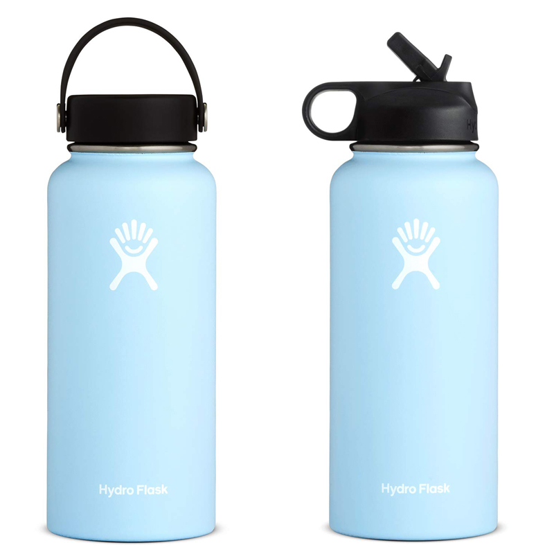 (Frost) 32/40oz Stainless Steel Water Bottle Hydro Flask Water Bottle Vacuum Insulated Wide Mouth Travel Portable Thermal Bottle
